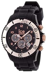 Ice-Watch Chrono Collection CH.RG.B.S.09 - Reloj unisex de cuarzo, correa de silicona color negro