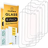 [5-PACK]- Mr Shield For Samsung Galaxy S5 [Tempered Glass] Screen Protector [0.3mm Ultra