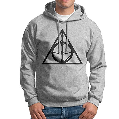 LOYRA Men's Deathly Hallows Sign Hoodies Size XXL Ash