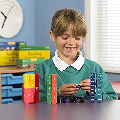 Learning Resources Fraction Tower Activity Set, Math accessories, Teaching aids, 51 Pieces, Ages 6+: Toys & Games