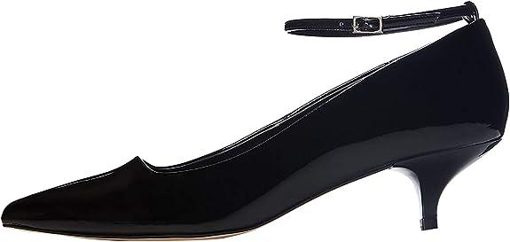 TALLA 38 EU. Marca Amazon - find. Zapatos de Charol con Puntera para Mujer