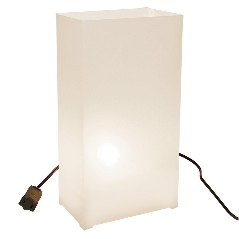 LumaBase Luminarias Electric Luminaria Kit- White- 10 Count, new