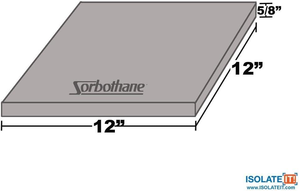 1.59 x 30.5 x 30.5cm Isolate It! Sorbothane Vibration Damping Sheet Stock 50 Duro