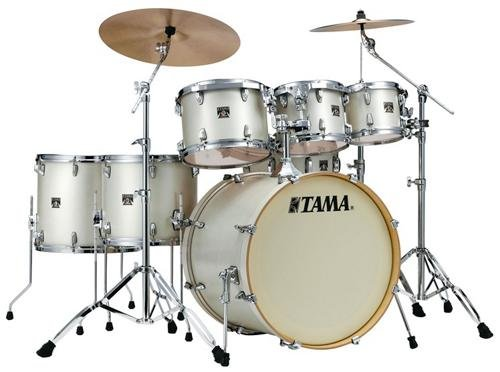 Tama Superstar Classic Maple Custom 7-Piece Shell Kit (Satin Arctic Pearl)