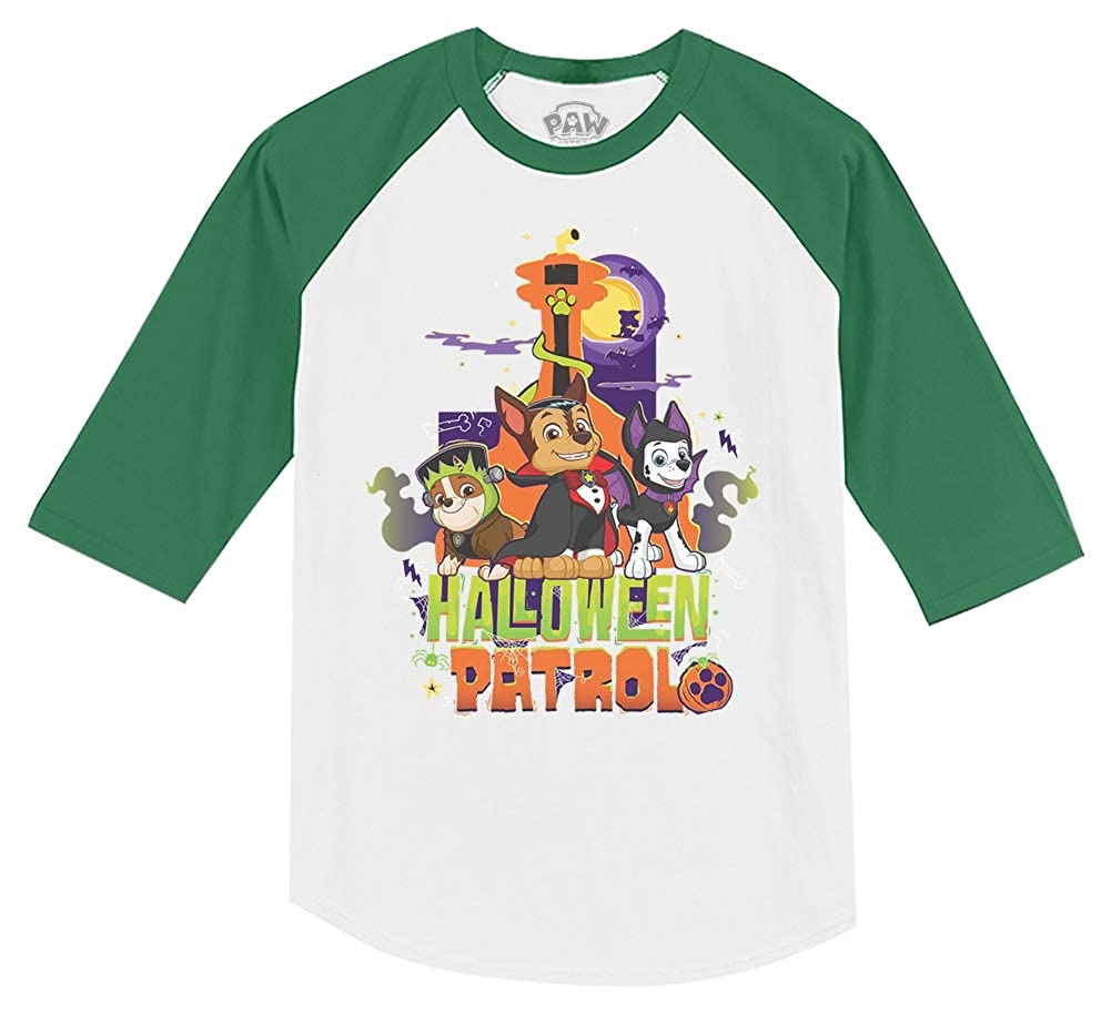Halloween Paw Patrol Pups Official Toddler Raglan 3//4 Sleeve Baseball Tee