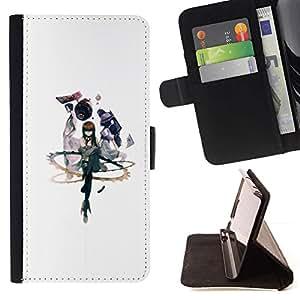 Momo Phone Case / Flip Funda de Cuero Case Cover - Abstracto;;;;;;;; - Apple Iphone 5 / 5S