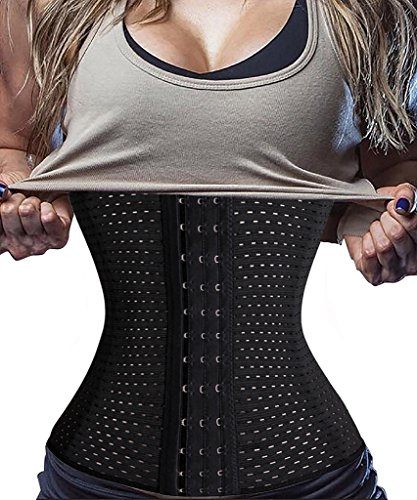 8c1a6ed3be Galleon - Waist Trainer Shapewear For Weight Loss Tummy Control Body Shaper  Breathable Waist Cincher