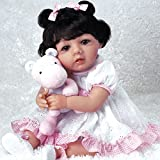 Paradise Galleries Hispanic Baby Doll Michelle, 19 inch Mexican Reborn Girl, GentleTouch Vinyl & Weighted Body, 6-Piece Doll Gift Set