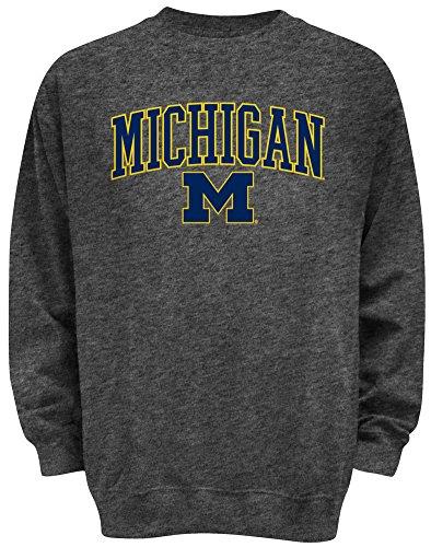 Elite Fan Shop Michigan Wolverines Locker Room Sweatshirt Charcoal - XL