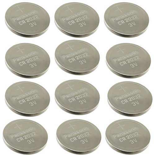 Panasonic 3-volt Lithium Coin Cell Batteries (12-pack) for Petsafe Sportdog Dog Trainer 105, Yard Trainer Sd-105s Receiver Collar