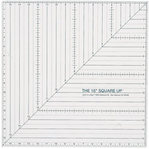 - Quilt In A Day 16-Inch by 16-Inch Square Up Ruler