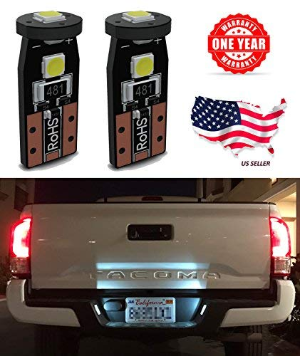 LED Monster 2-Pack White 3-SMD LED Bulbs (3030 Chipset) for Car Interior Dome Map Door Courtesy License Plate Lights Extremely Bright Compact Wedge T10 168 194 2826 (Door Rs Panels)
