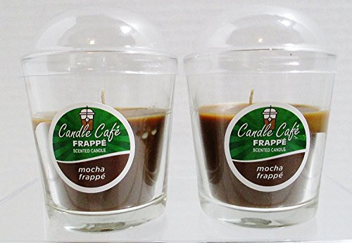 Candle Cafe Frappe Scented Candle - Mocha Frappe - Set of 2 Glass 3' Jars