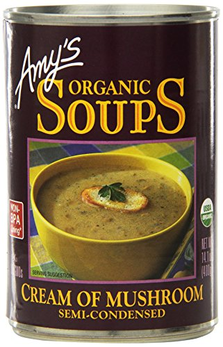 Amy's Organic Cream of Mushroom Soup, 14.1-Ounce Cans (Pack of 12) ()