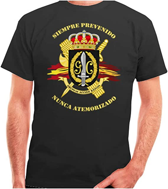 Camiseta Guardia Civil Grupo Acción Rápida. Tallas de S a XXXL (L ...
