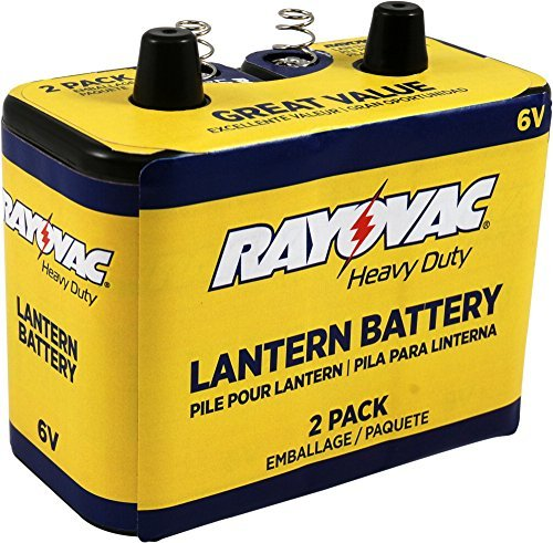 Rayovac 944-2R: 6-Volt Heavy Duty Lantern Battery with Spring Terminals - 2 Pack by Rayovac
