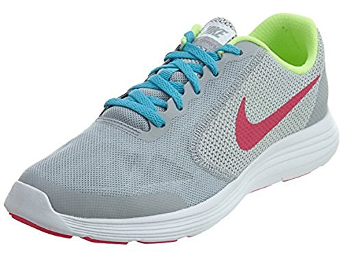 NIKE Girl's Revolution 3 (GS) Athletic Shoe, Wolf