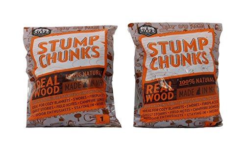 Stump Chunks 100% Natural Wood Fire Starter (Waterproof) 0.10 cu ft bag, 2 Bags by Stumpchunks