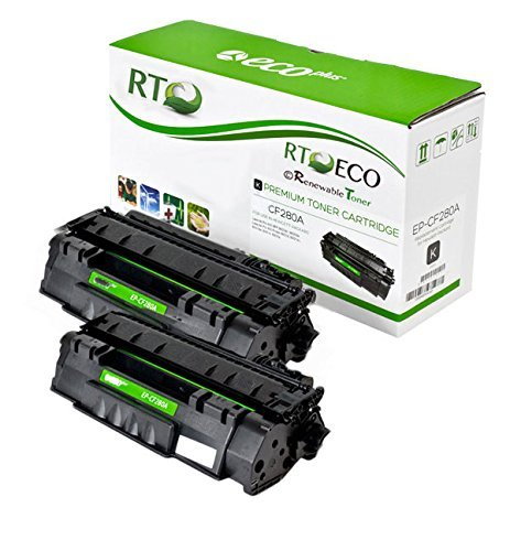 Renewable Toner 80A CF280A Compatible 2-Pack Toner Cartridge for HP Laserjet M401 M425 Series Printers
