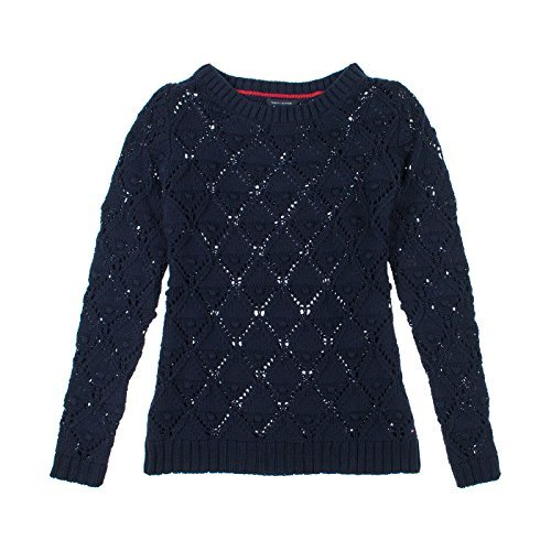 Tommy Hilfiger Womens Long Sleeve Knit Sweater S New Master Navy
