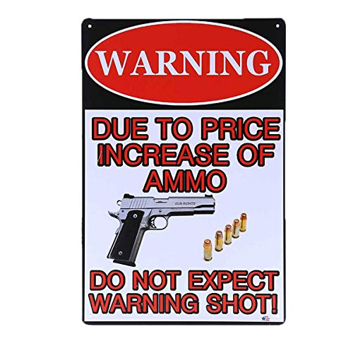 AiYahoo Warning Signs with There is Nothing Here Worth Dying for Retro Vintage Bar Metal Sign 12x8 Inches (Gun Signs)