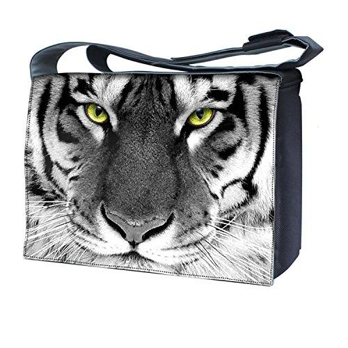 Ektor - Bolso al hombro para mujer diseño de tigre blanco