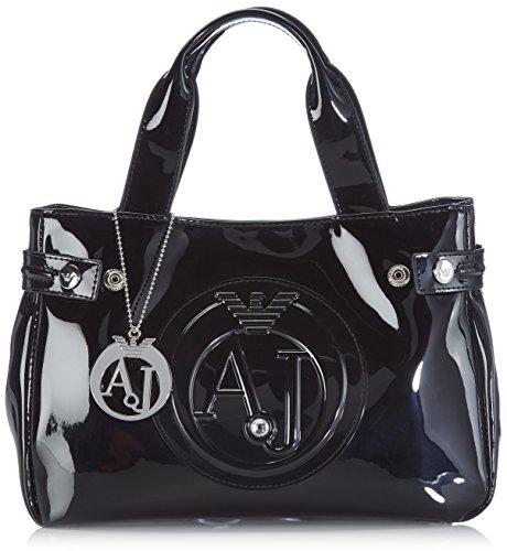 Armani Jeans women's handbag shopping bag purse embossed logo - Shopping Armani Bag