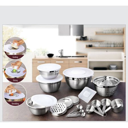 better homes and gardens 21 piece stainless steel measure
