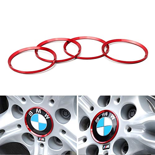 iJDMTOY (4) Anodized Red Aluminum Wheel Center Cap for sale  Delivered anywhere in USA