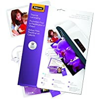 Fellowes Laminating Pouches, Thermal, Kit, Assorted Sizes, 3 Mil, 52 Pack (5208401)