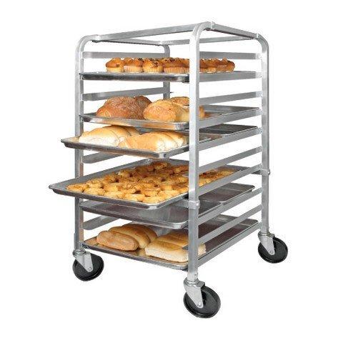 10 Full-Size Mobile Bun Pan Rack