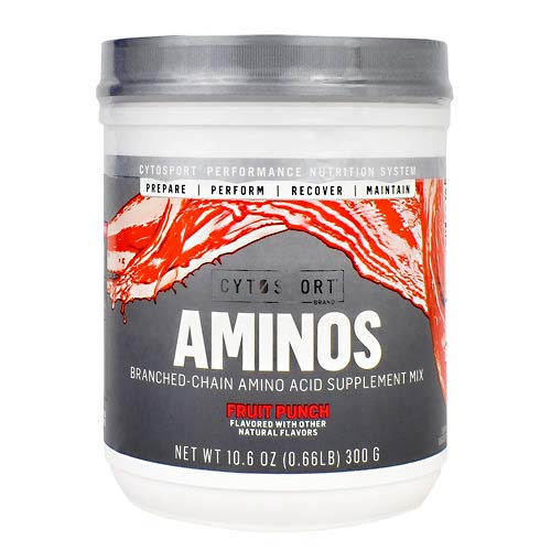 Cytosport Aminos Branched-Chain Amino Acid Supplement Mix Fruit Punch 25/SERV