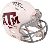 "Johnny Manziel Texas A&M Aggies Autographed White Riddell Mini Helmet with ""Heisman 12"" Inscription - Fanatics Authentic Certified"