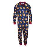 FC Barcelona Official Football Gift Boys Kids Pajama Onesie Navy 9-10 Years