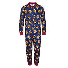 FC Barcelona Official Football Gift Boys Kids Pyjama Onesie Navy 9-10 Years