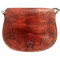 Bolsa de Couro Legítimo Vermelho - Cintos Exclusivos - Feminino