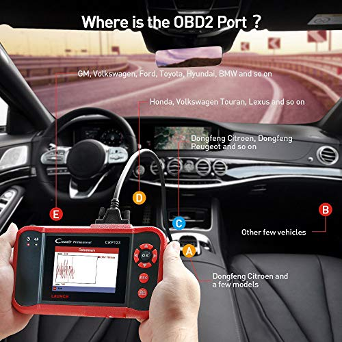 LAUNCH CRP123 OBD2 CReader ABS SRS Transmission Engine Code Reader Diagnostic Scanner by LAUNCH (Image #4)