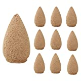 TONSEE 10 Pcs Backflow Natural Smoke Pagoda Indoor Incense Cone Bullet Aromatherapy