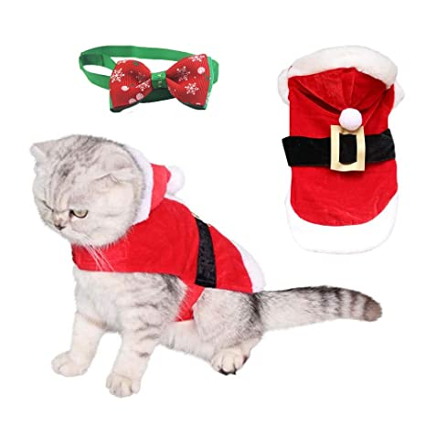 kungfu Mall Traje de Navidad para Perros de Invierno con Corbata ...