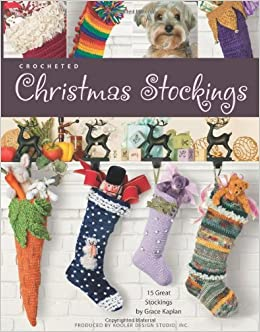 Crochet Christmas Stocking Pattern.Crocheted Christmas Stockings Leisure Arts 4032 Kooler