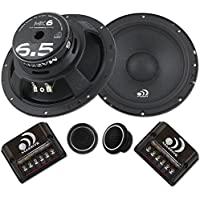 Massive Audio MK6 - 6 Inch, 6.5 300 Watts Max / 150w RMS, 4 Ohm, MK Series, Component Car Audio Speaker System (Pair)