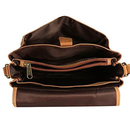J. Wilson London - Bolso estilo cartera para mujer marrón marrón mediano marrón