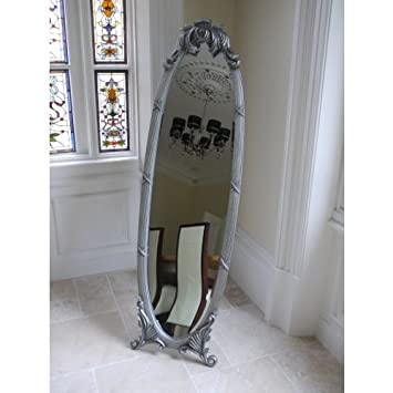 sale sale sale large vintage cheval silver dressing floor mirror