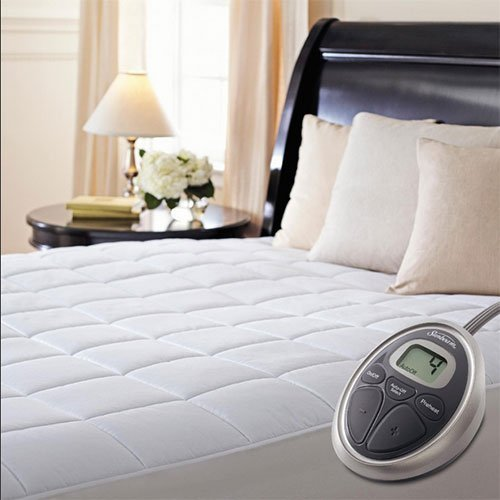 Sunbeam Premium Luxury Quilted Heated Electric Mattress Pad - Queen Size by Sunbeam