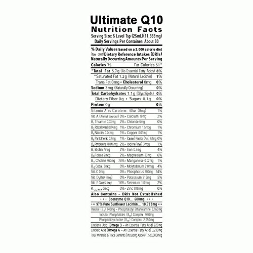 Ultimate Q10 - Heart, Body and Mind Superfood - Promotes Stronger Immune System and Aids in Faster Weight Loss - (Powder Form: 340g)