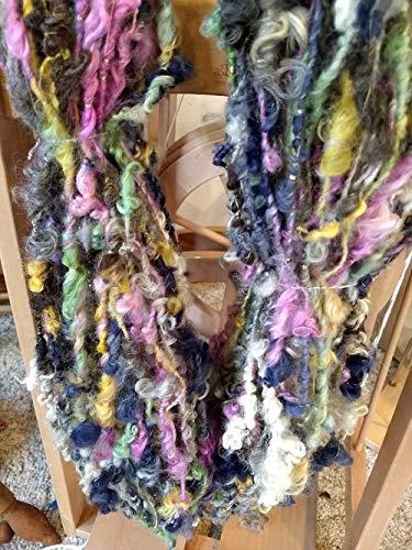 Handspun yarn- art yarn-coil spun- wool handspun yarn-wool- 1 skeins-134 yds- knitting- knit- knitting supplies- crochet- felting- wool yarn by SheSpinsKnitsWeaves