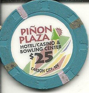 $25 pinon plaza bowling center carson city nevada casino chip - Center Plaza