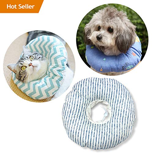 Soft Protective Recovery Collar for Dogs and Cats - Comfy Elizabethan Collar with Adjustable Strap Not Easy to Get Off, Not Block Pets Vision Better Than Cone Collar - X-Small