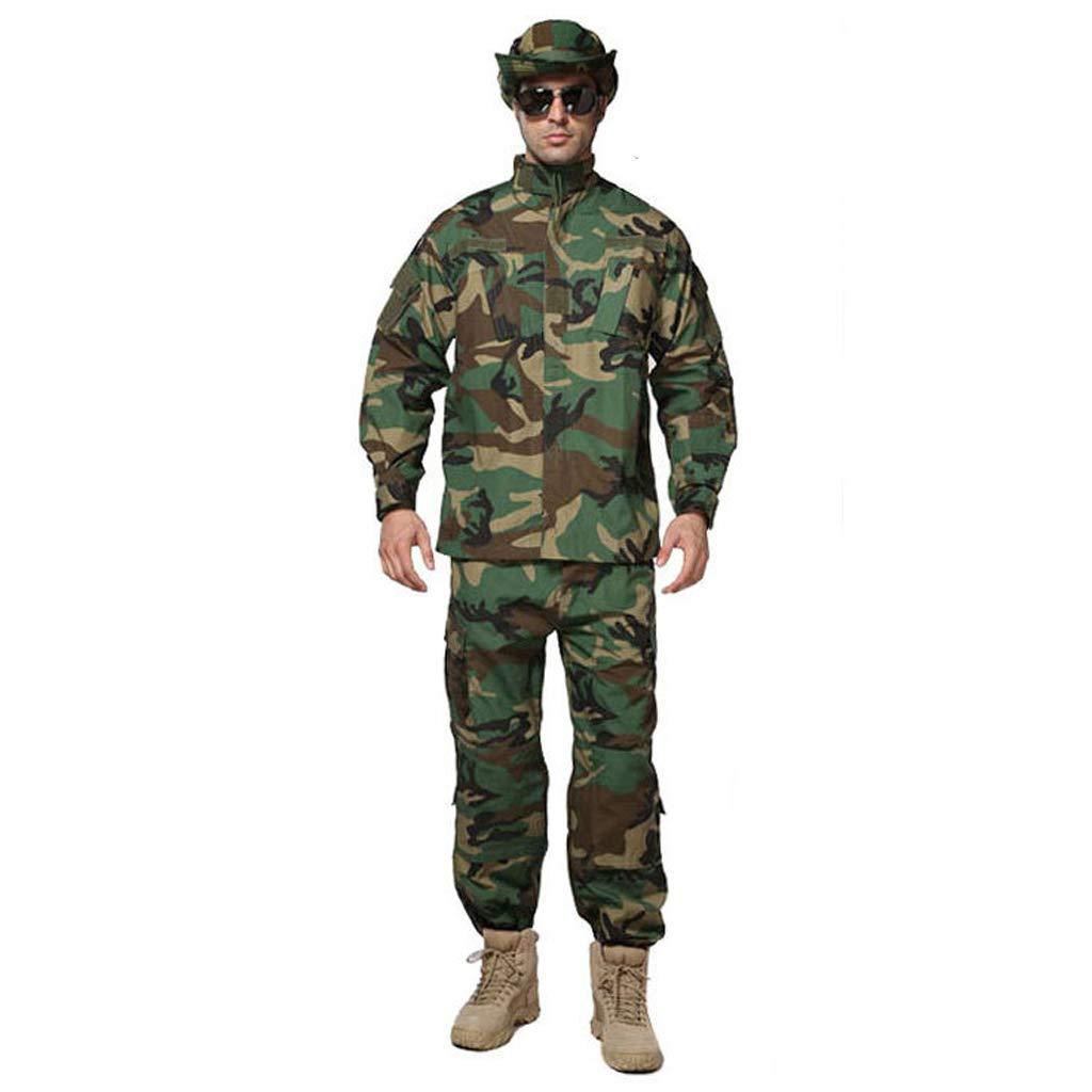 Camouflage Tactical Suit, Camouflage Camo Combat Jacket für Herren Shir und Hose Uniform War Game Armee Militär Paintball Airsoft Jagd Schießen Camo (größe : XXL/185-185B/100kg)