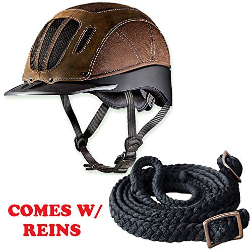 Troxel X Lrg Sierra Brown The Western Horse Riding Helmet W/Reins ()